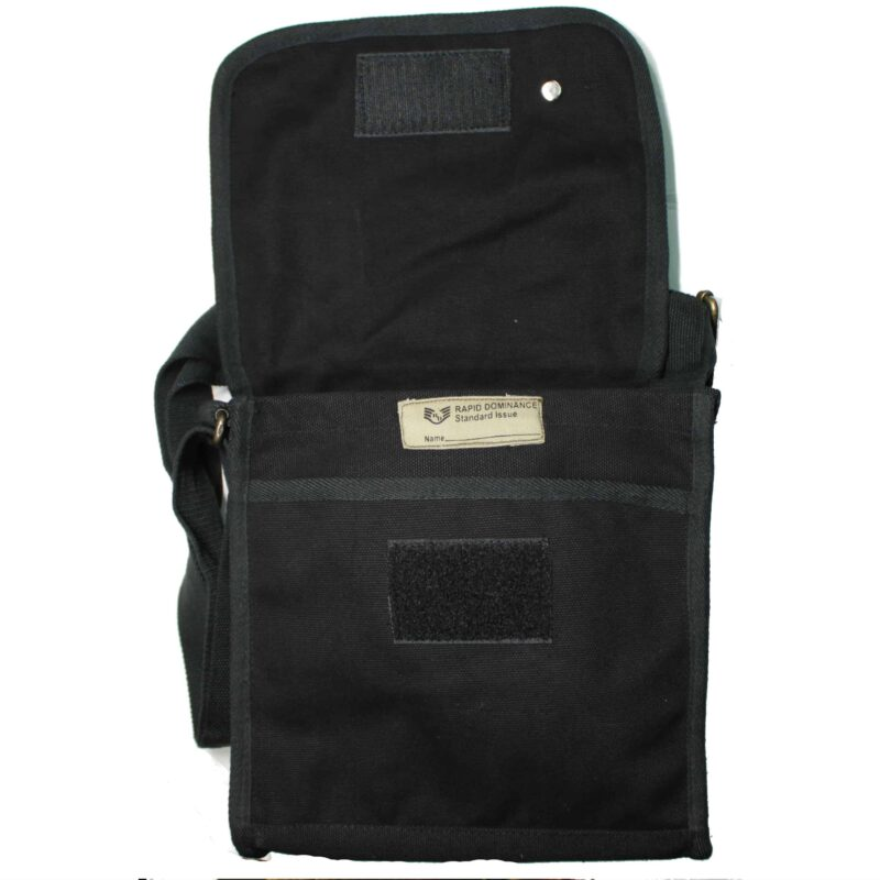 Black Military Field Messenger Bag 3