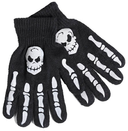 Skeleton and Skull Acrylic Gloves