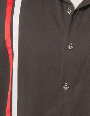 V8 Black Bowling Shirt by Steady Clothing 1