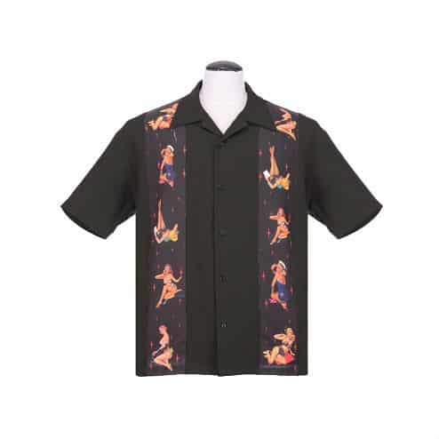 Multi Pinup Bowling Shirt by Steady Clothing