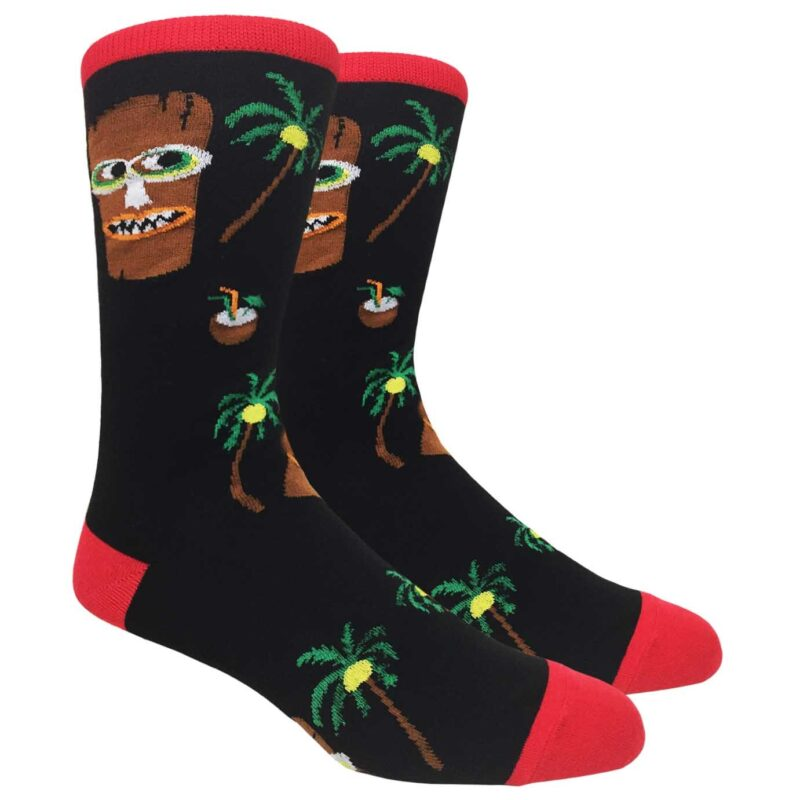 Tiki Man and Pina Colada Crew Socks