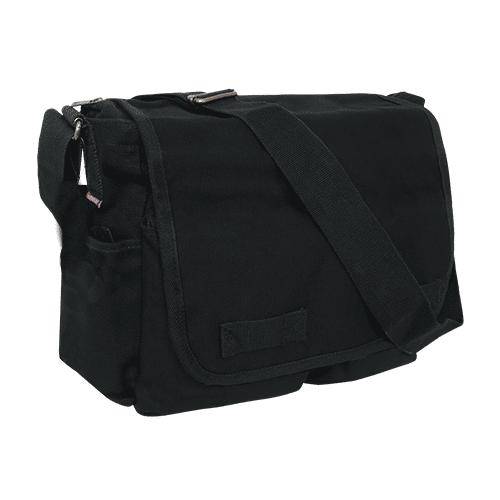Black Military Messenger Bag 1