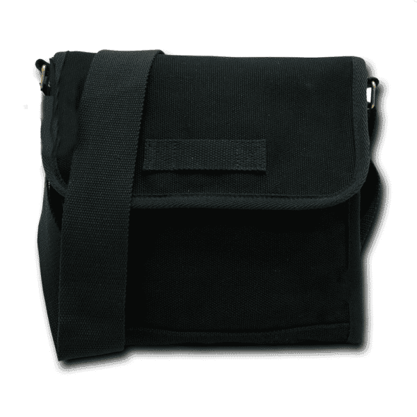 Black Military Field Messenger Bag