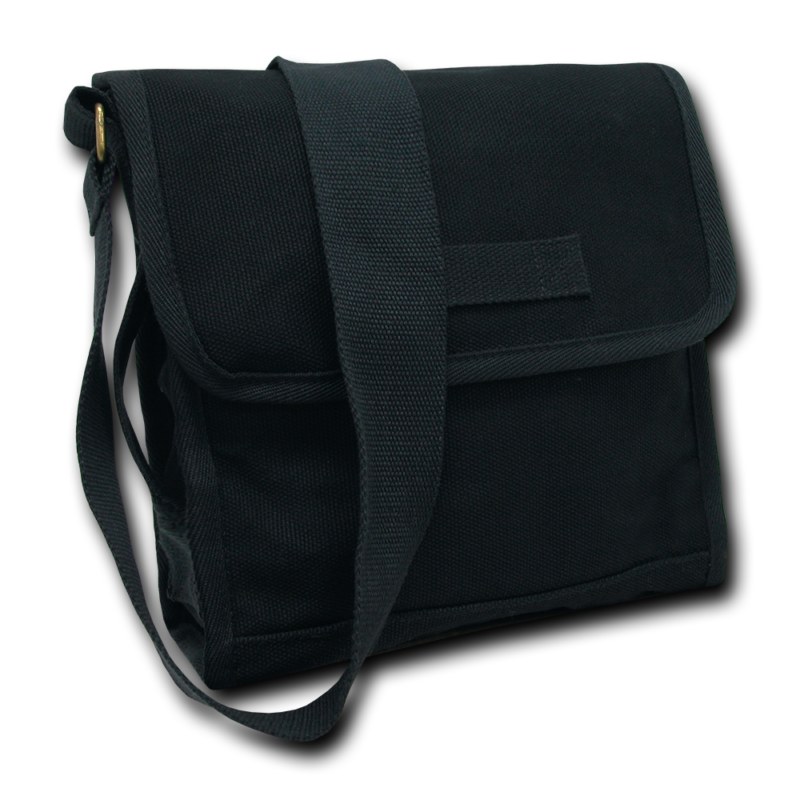 Black Military Field Messenger Bag 1
