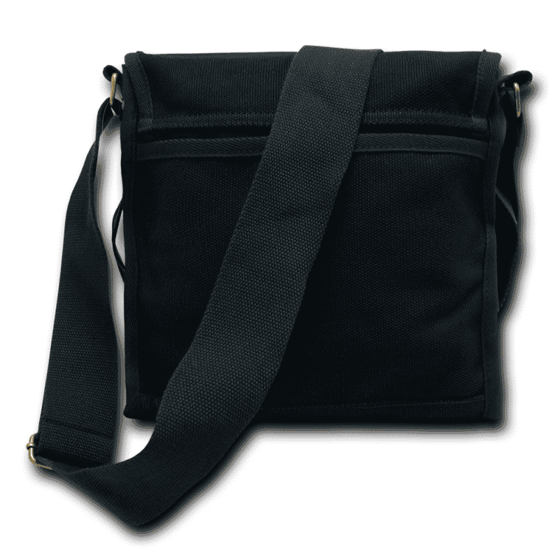 Black Military Field Messenger Bag 2