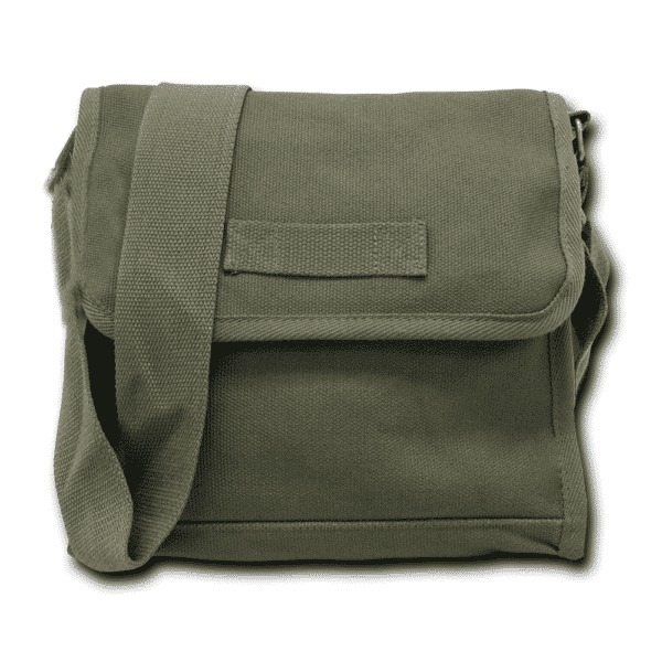 Olive Military Field Messenger Bag