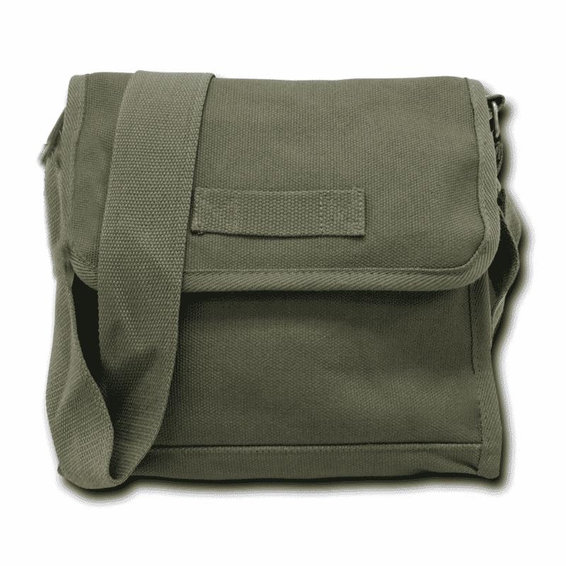 Olive Military Field Messenger Bag