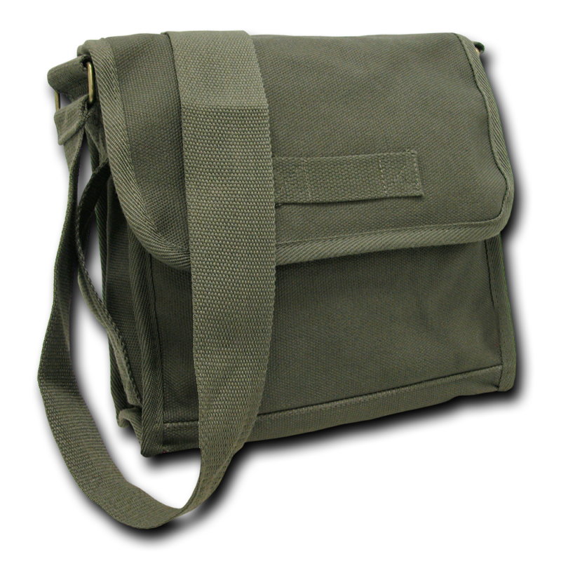 Olive Military Field Messenger Bag 1