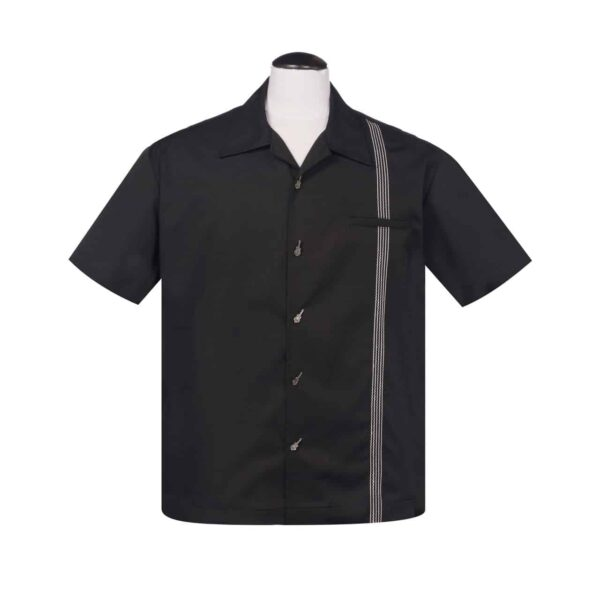 6 String Black Bowling Shirt