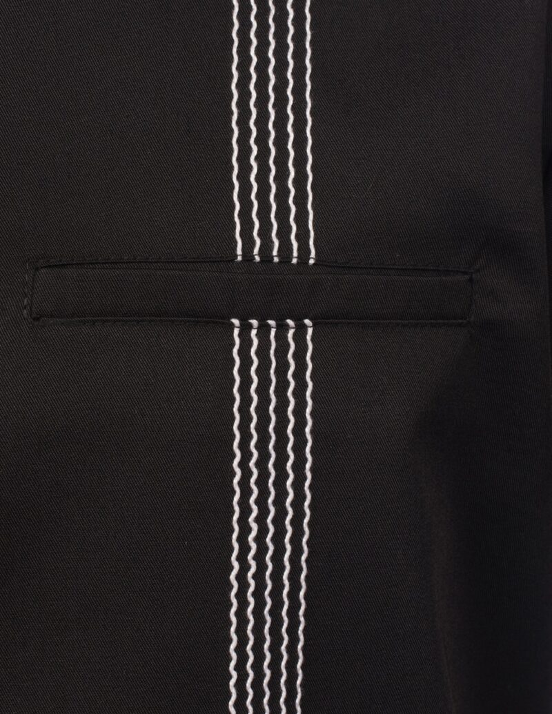 6 String Black Bowling Shirt by Steady Clothing 1