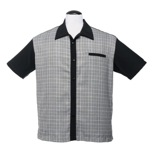 Black Plaid Bowling Shirt