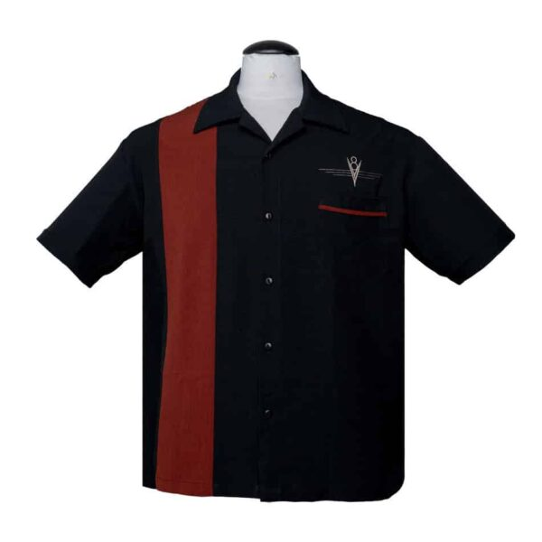 Black Rust Bowling Shirt
