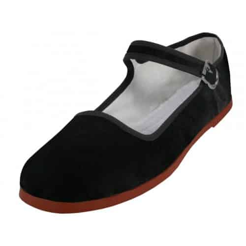 Black Velvet Mary Jane Shoes
