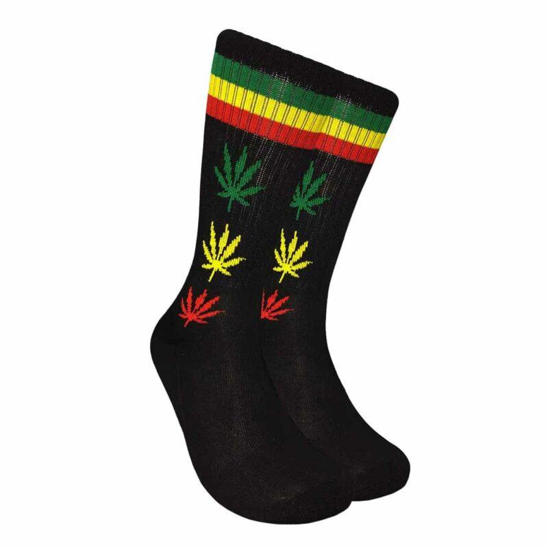 Rasta Marijuana Leaf Crew Socks