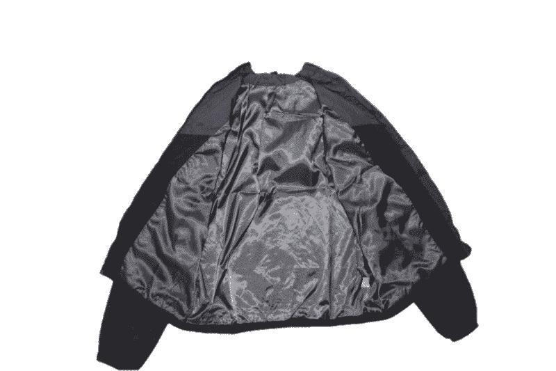 Black Gray Hooded Windbreaker Jacket 4