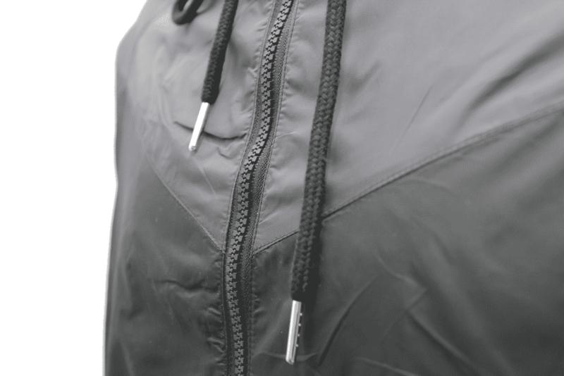 Black Gray Hooded Windbreaker Jacket 3