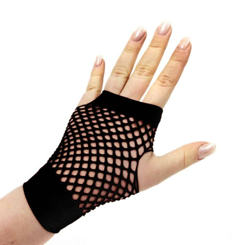 Short Fingerless Fishnet Gloves 1