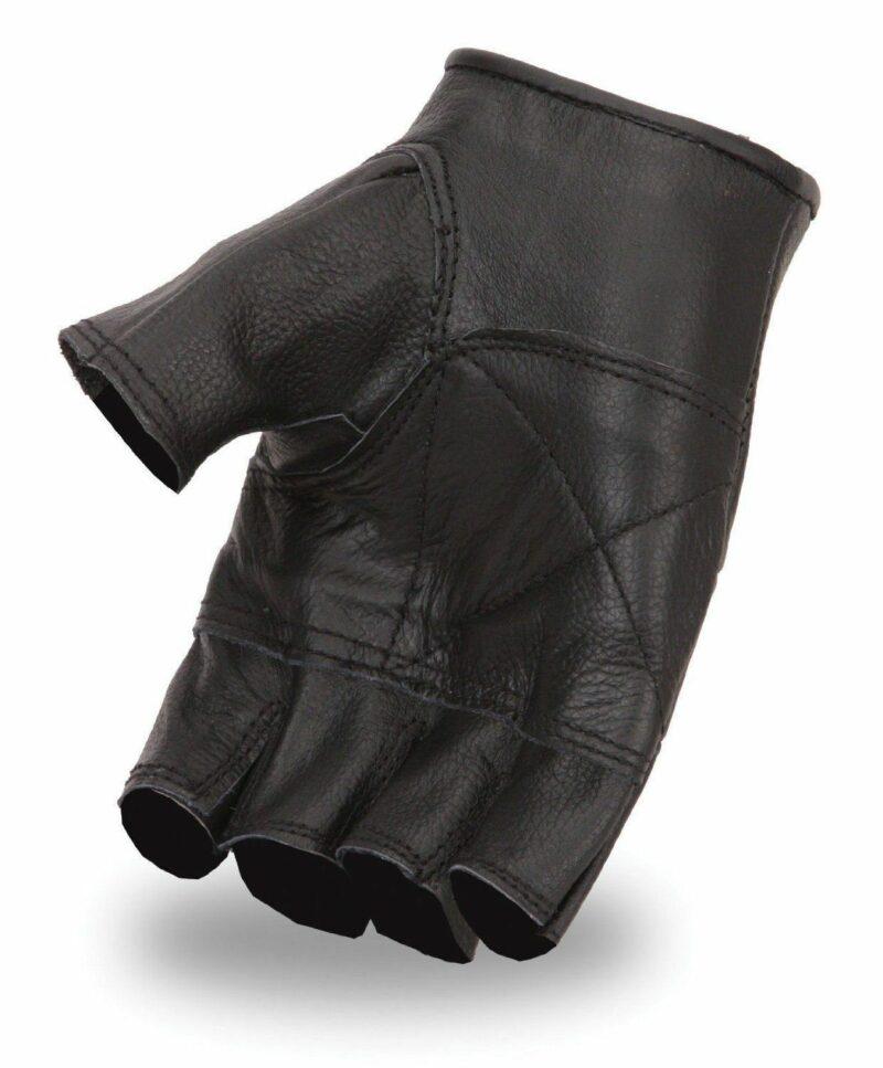 Black Fingerless Biker Gloves 2