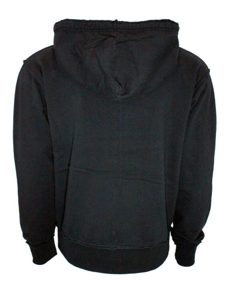 Vintage Black Drawstring Zip Hoodie 1