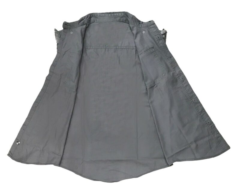 Gray Denim Cutoff Shirt by Milwaukee Leather 1