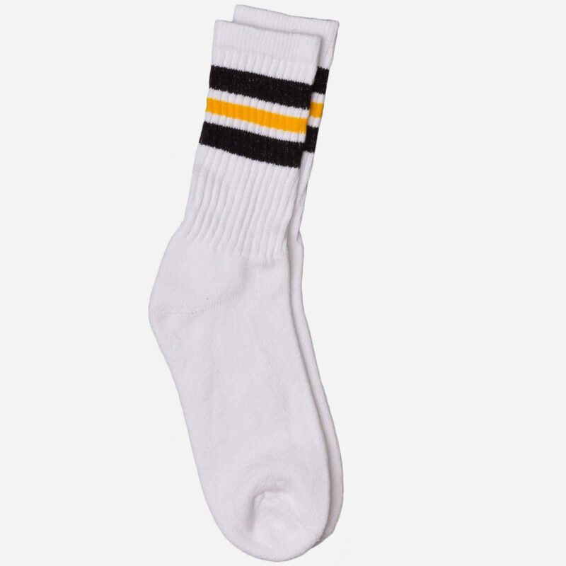 Striped White Tube Socks 3