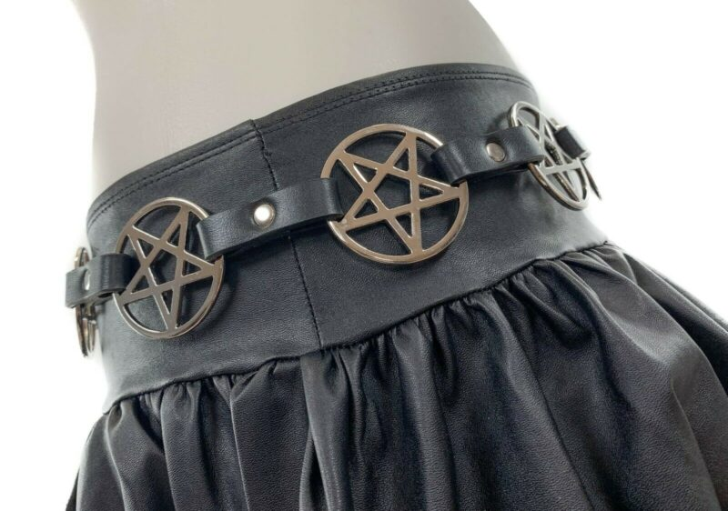 Pentagram Link Leather Belt 1