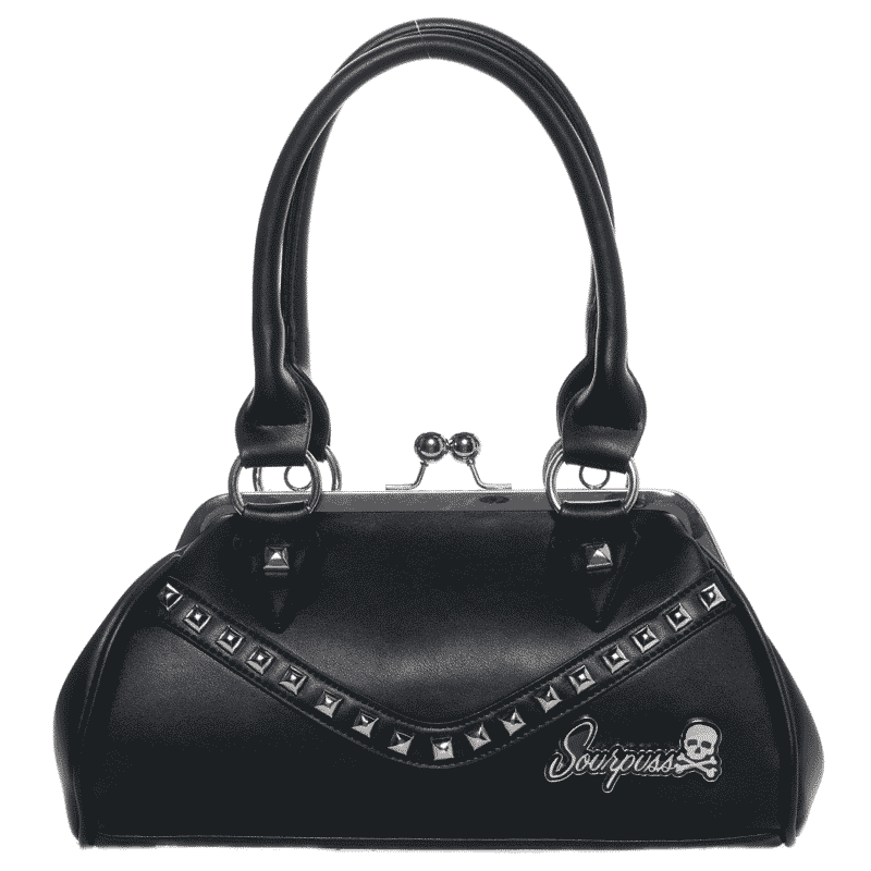 Black Dollface Stud Purse by Sourpuss Clothing