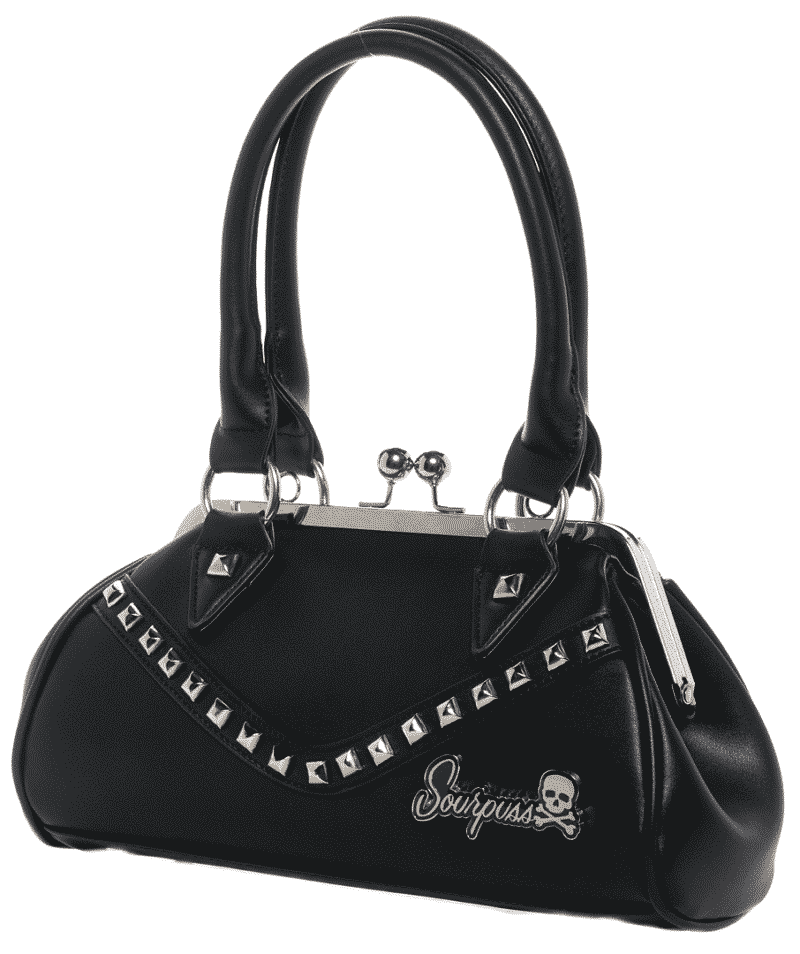 Black Dollface Stud Purse by Sourpuss Clothing 1