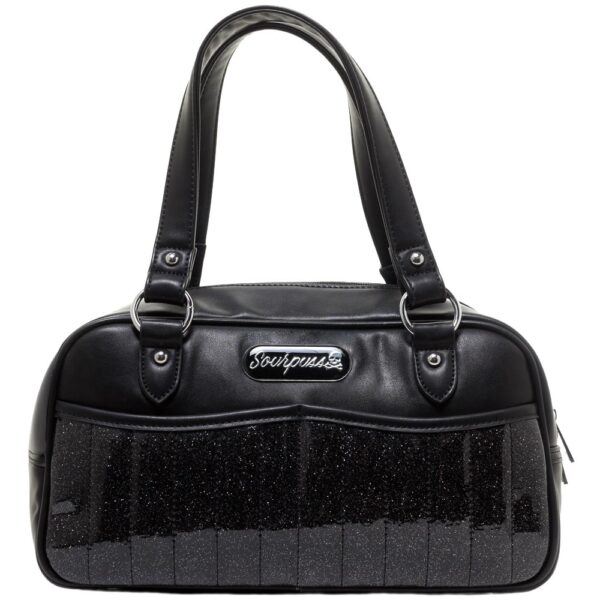 Black Sabrina Glitter Purse by Sourpuss