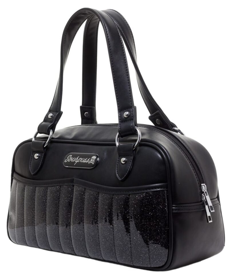 Black Sabrina Glitter Purse by Sourpuss Clothing 1