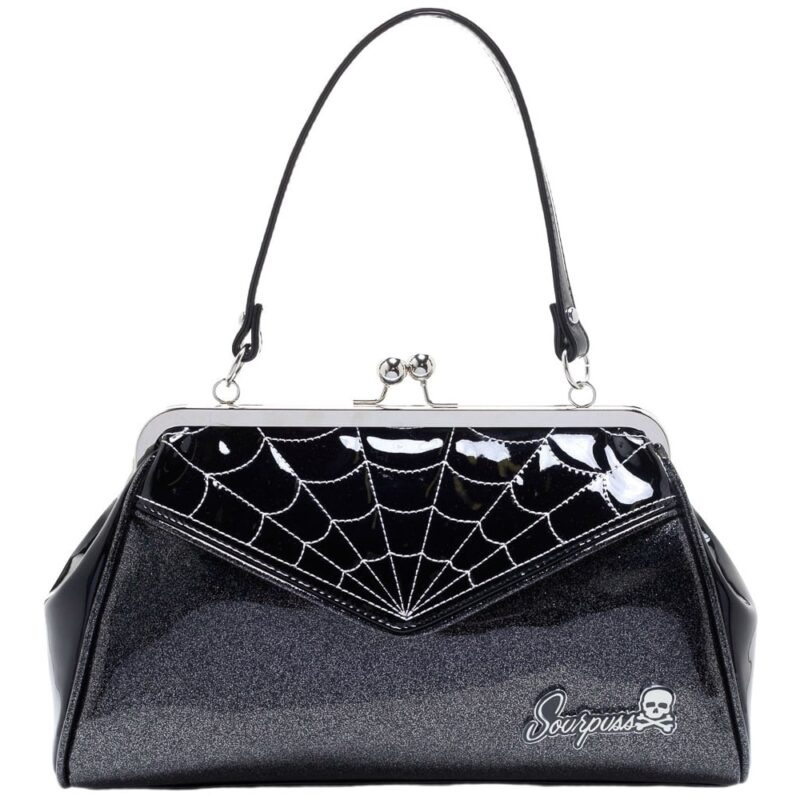 Black Spiderweb Backseat Baby Purse by Sourpuss Clothing