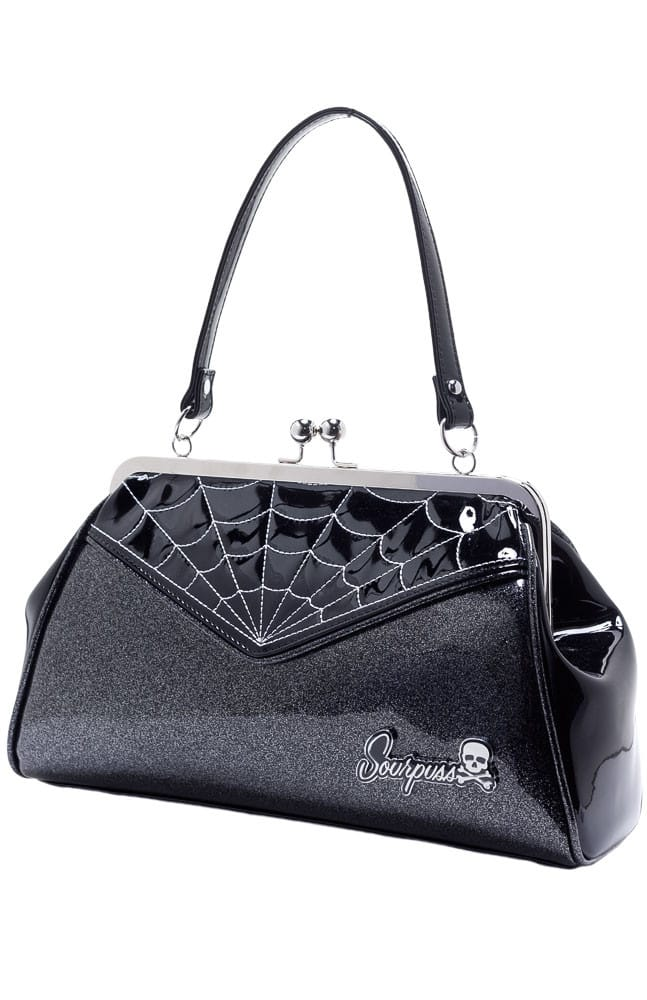 Black Spiderweb Backseat Baby Purse by Sourpuss Clothing 1