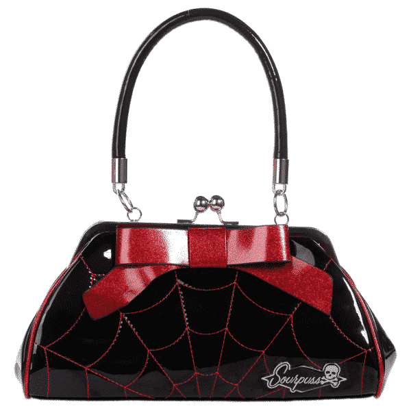 Black Spiderweb Floozy Purse by Sourpuss Clothing