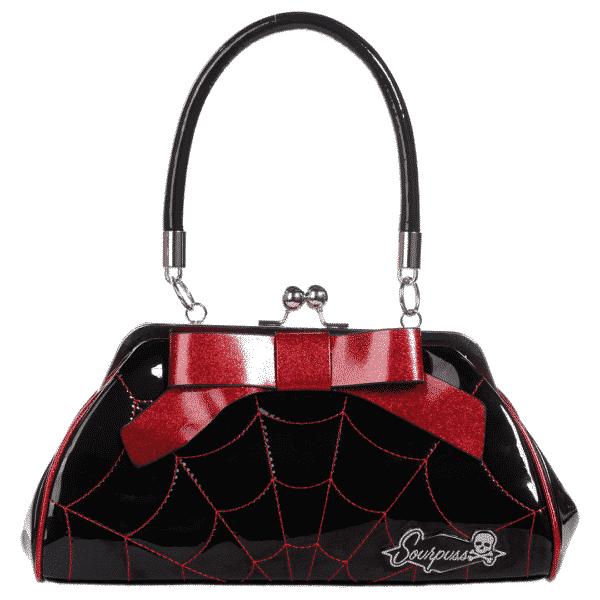Black Spiderweb Floozy Purse by Sourpuss Clothing