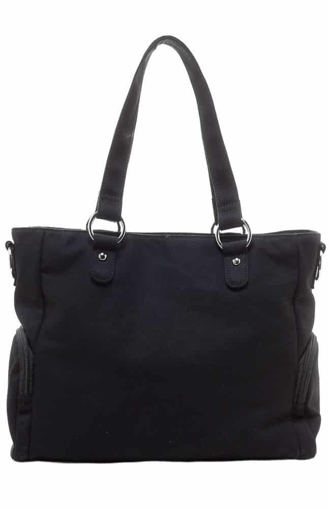 Black Leda Canvas Purse Studded by Sourpuss Clothing 2