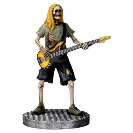 Skull Bassist Figurine