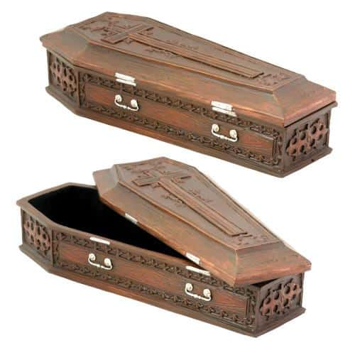 Brown Vampire Coffin Box 1