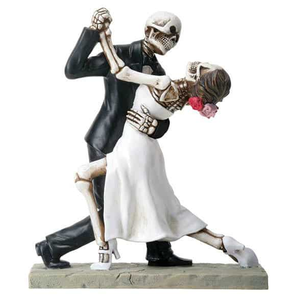 Day of the Dead Wedding Couple Dancing Figurine / Dia de los Muertos 1