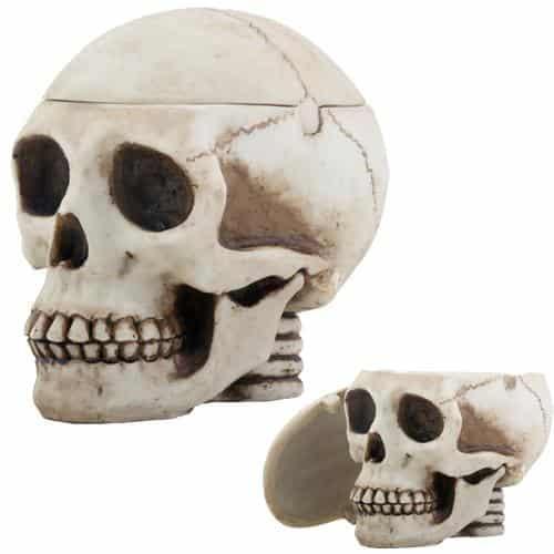 Human Skull Box Ashtray