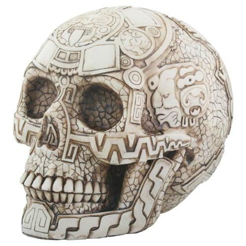 Aztec Carved Skull Head