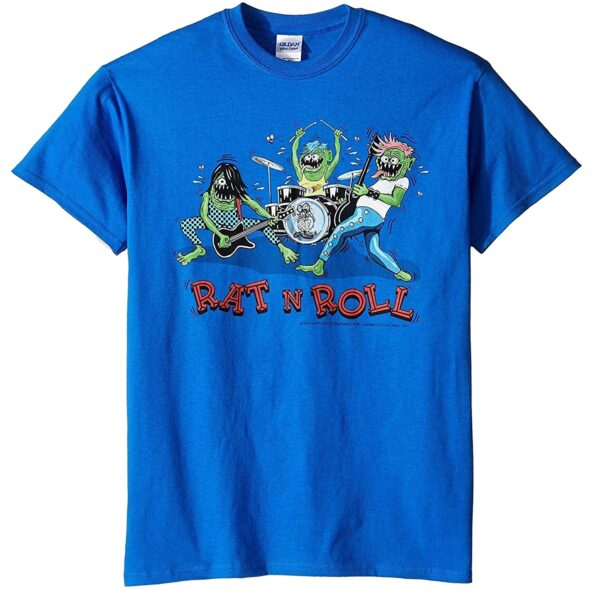 Rat Fink Rat n Roll Blue T-Shirt