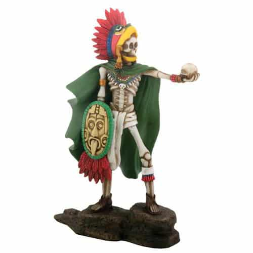 Day of the Dead Aztec Eagle Warrior Figurine / Dia de los Muertos 1
