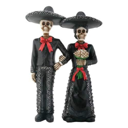 Day of the Dead Mariachi Wedding Couple Figurine / Dia de los Muertos 1