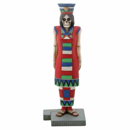 Day of the Dead Aztec Queen Figurine / Dia de los Muertos 1