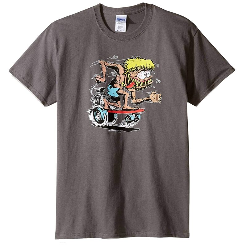 Rat Fink Sidewalk Surfer Gray T-Shirt