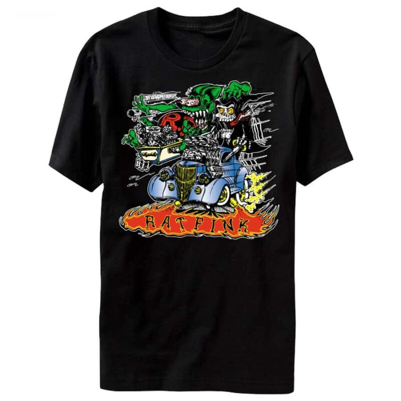 Rat Fink Hot Rod Death Coffin T-Shirt