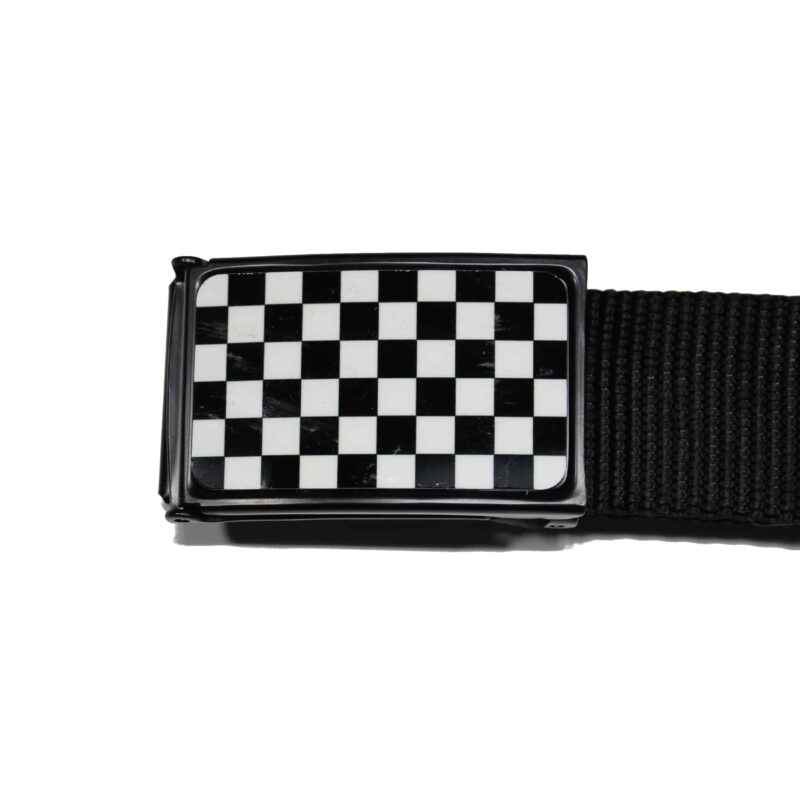 Web Belt Black and White Checkered 1