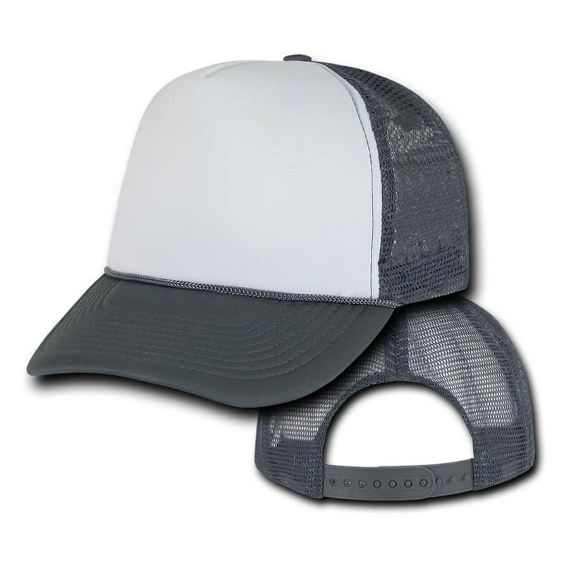 Gray and White Trucker Hat