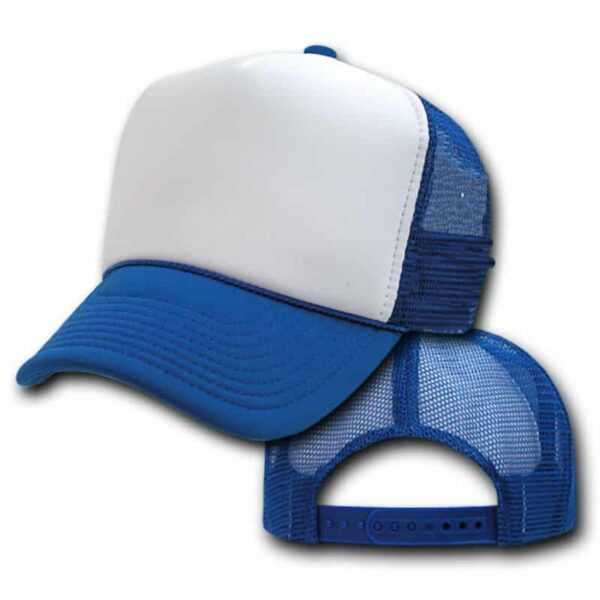 Blue and White Trucker Hat