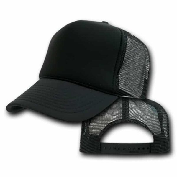 Black and Black Trucker Hat